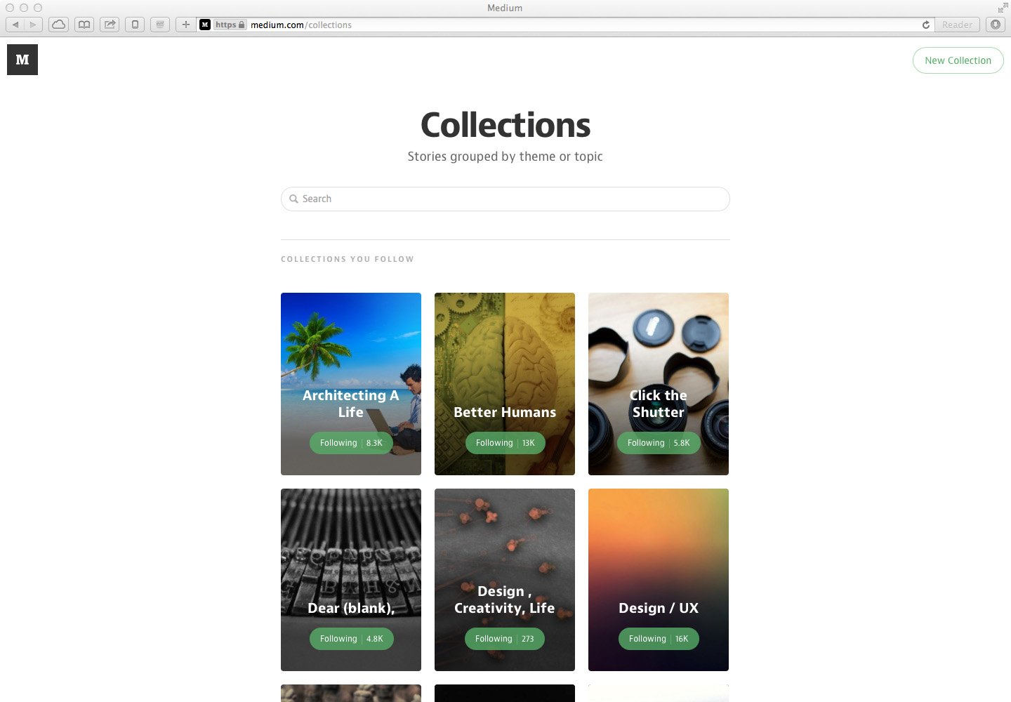 Medium - Post collections