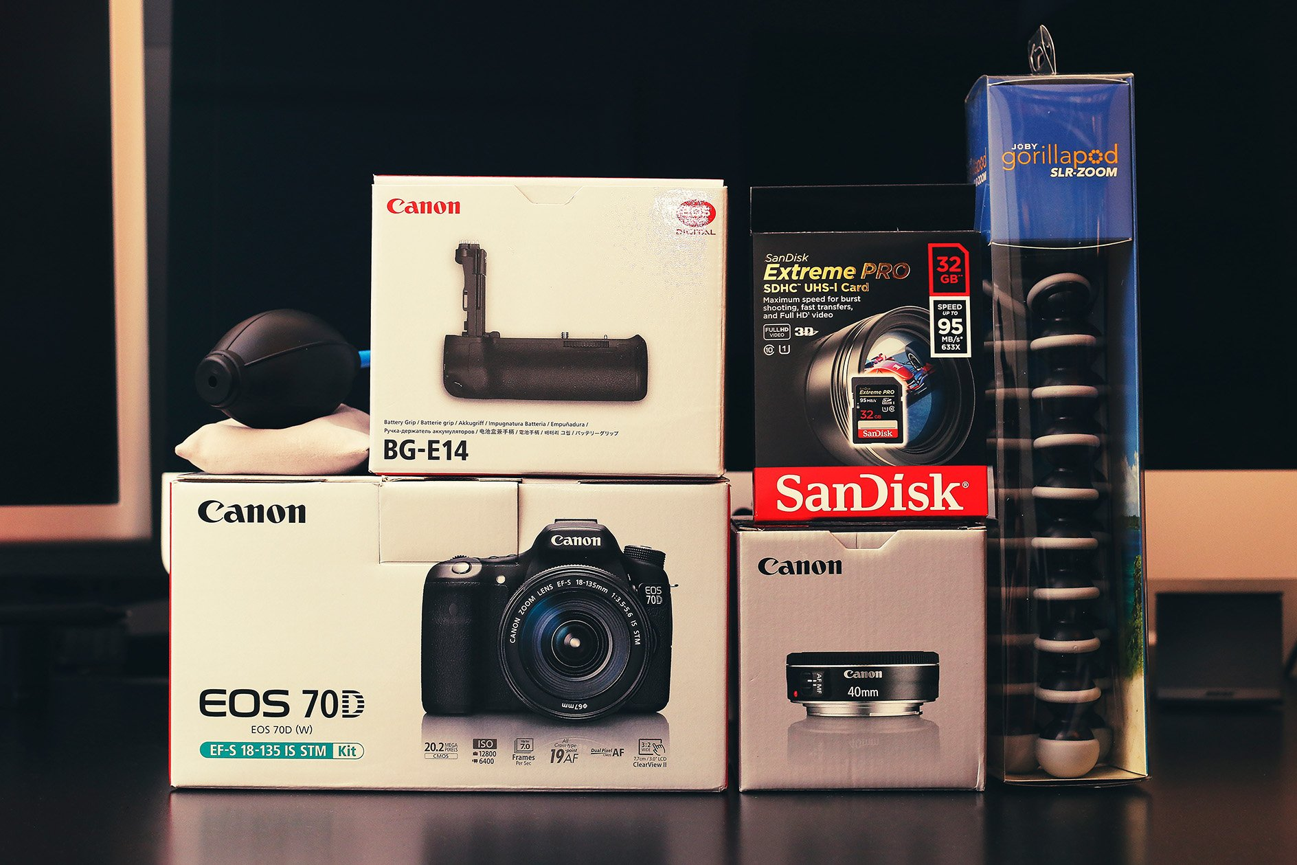 Canon EOS 70D and Other Equipment