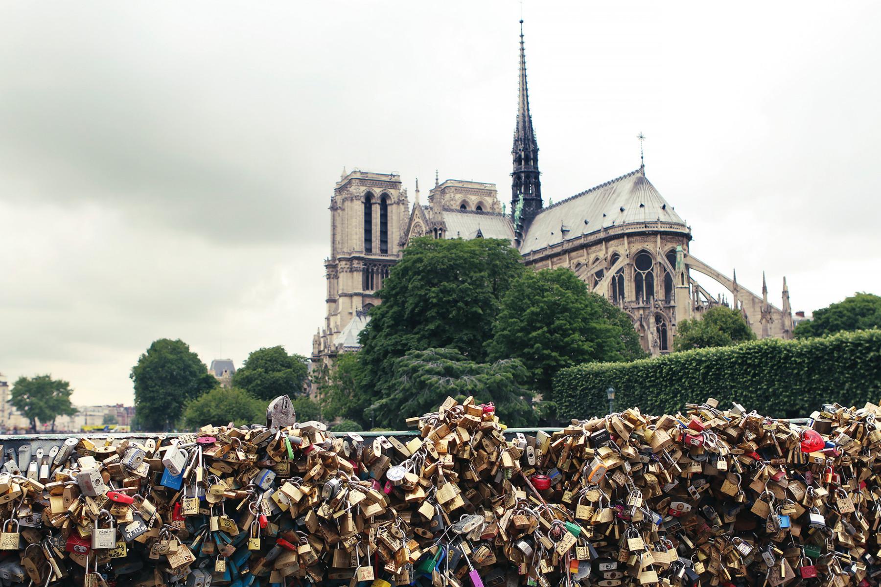 Notre Dame from Padlock Bridge