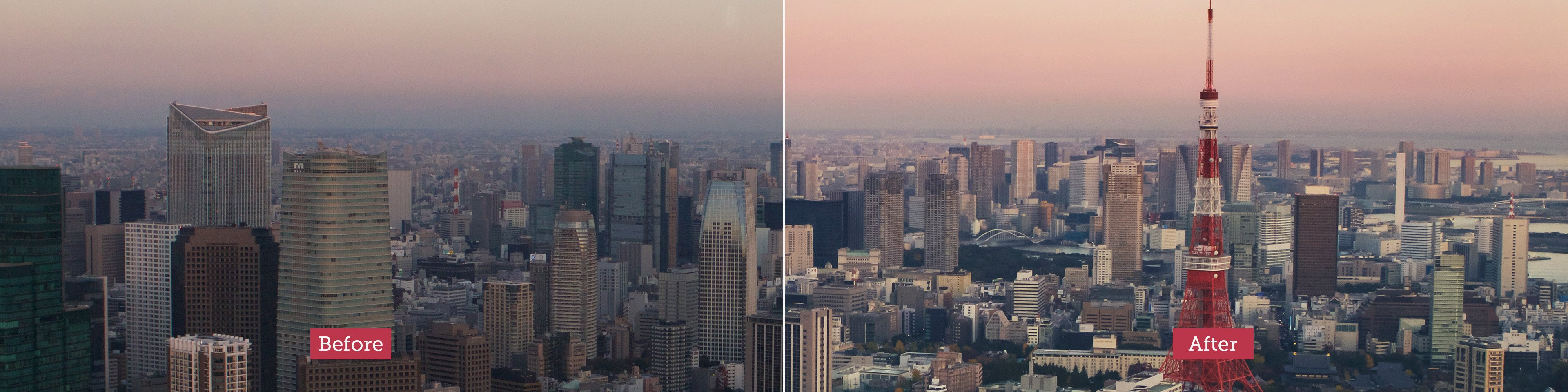 How I edit photos before and after