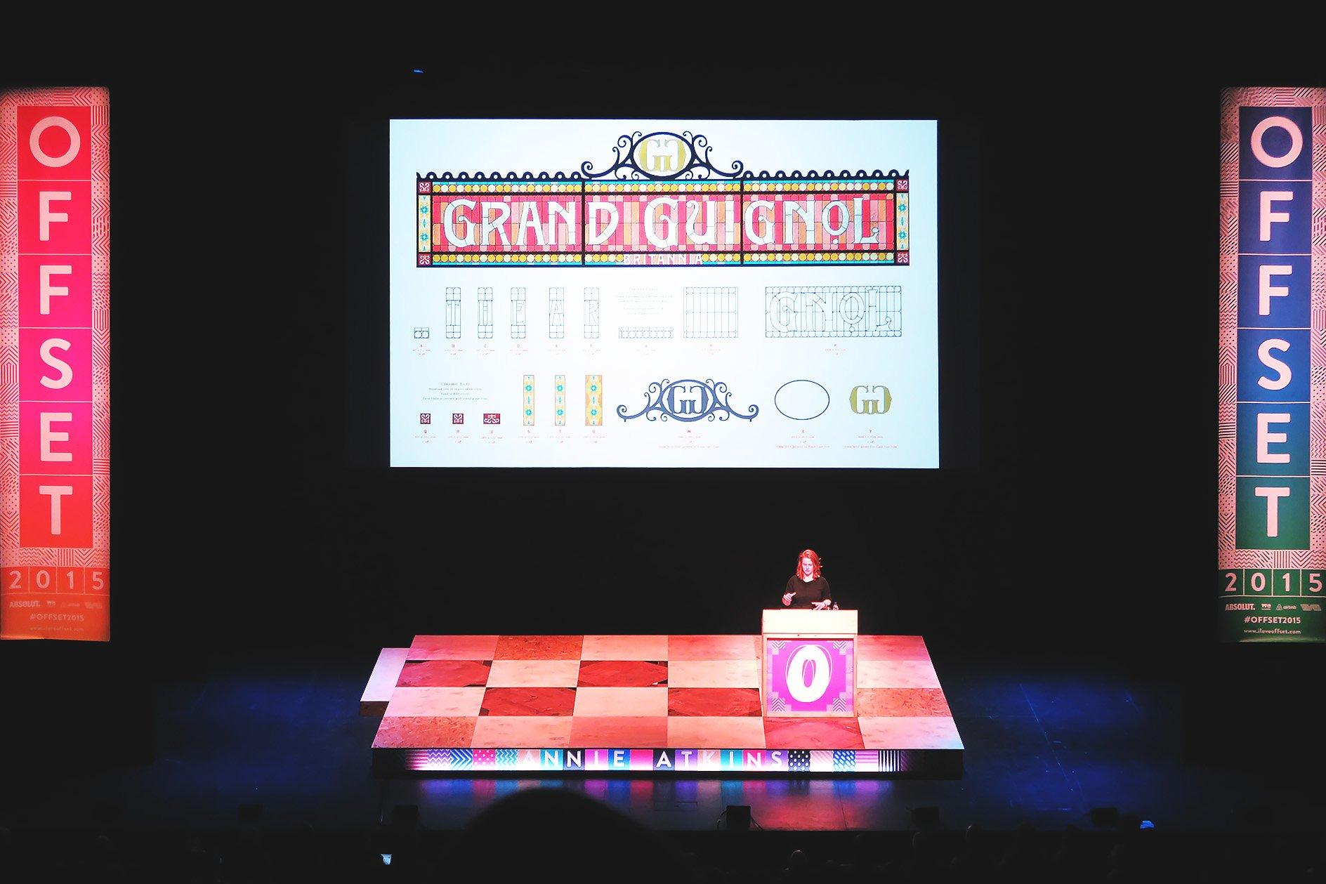 Annie Atkins at OFFSET 2015 – Designing Theatre Signage