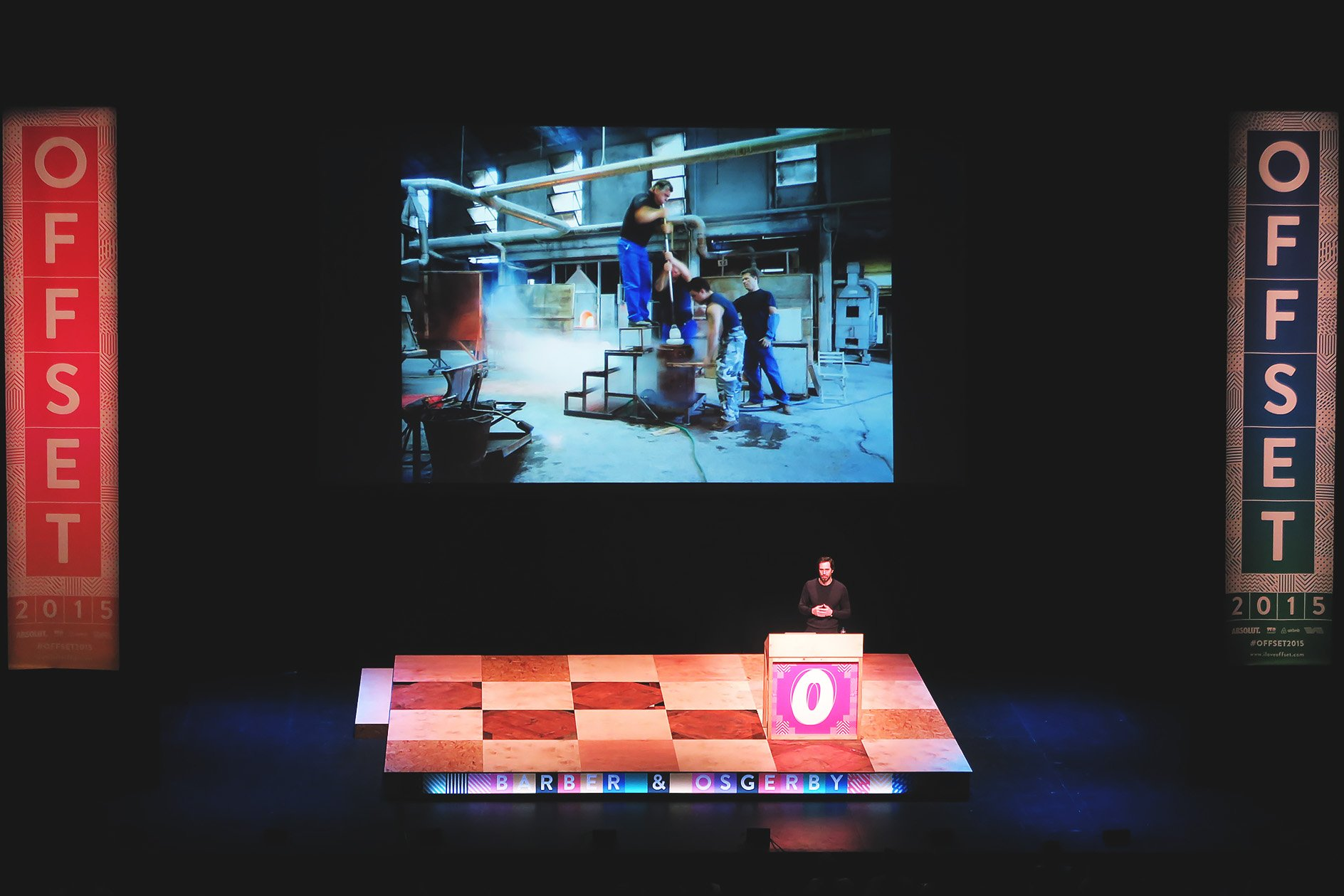 Barber & Osgerby at OFFSET 2015 – Glass blowing