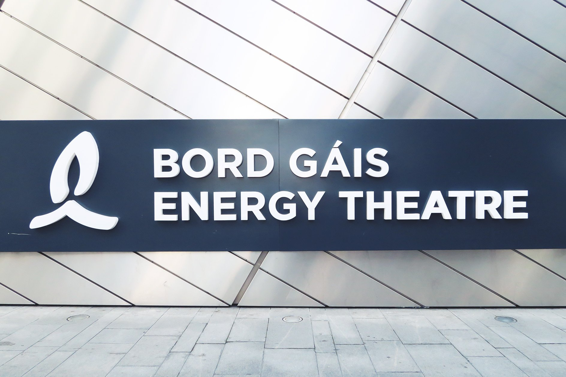 Bord Gais Energy Theatre Sign
