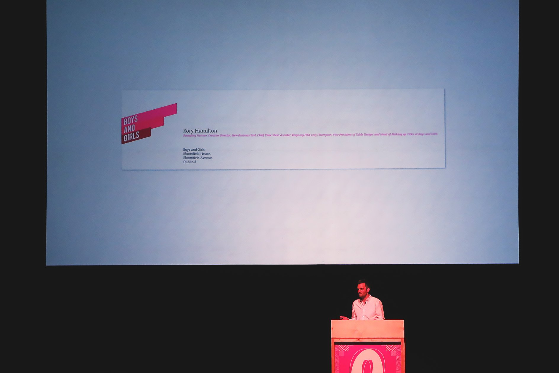 Boys and Girls at OFFSET 2015 – Rory's Business Card