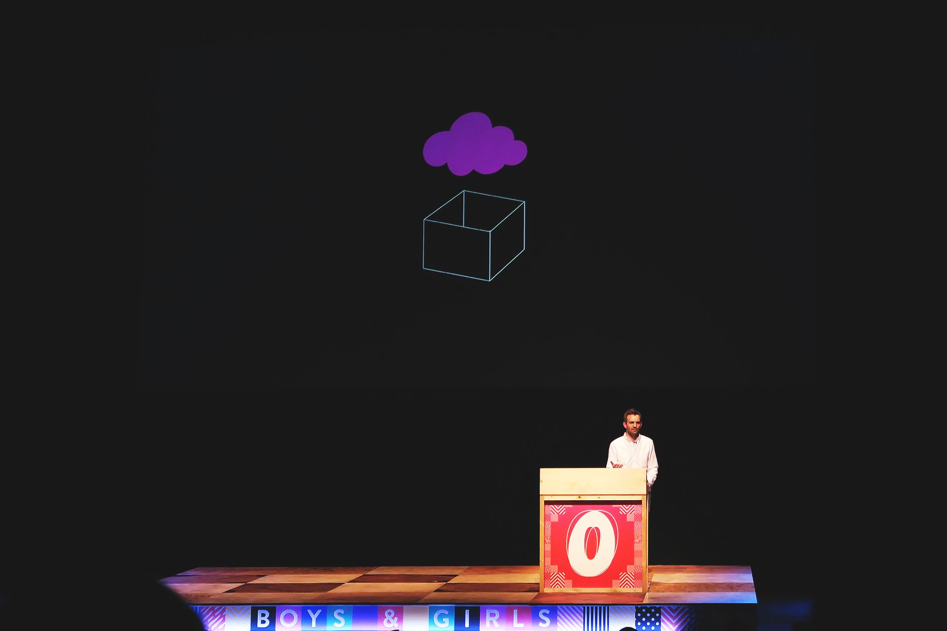 Boys and Girls at OFFSET 2015 –Box and Cloud Icon