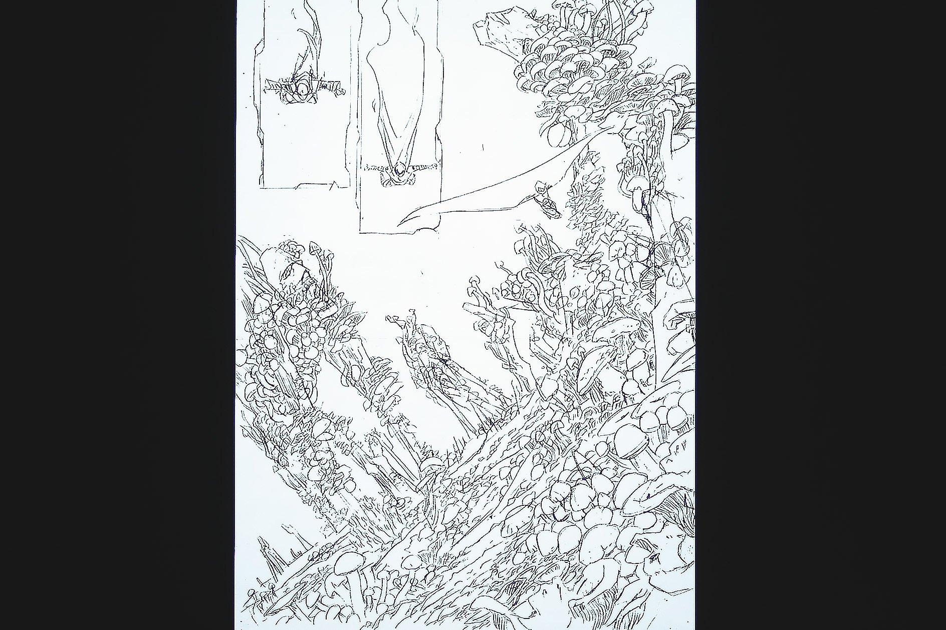 Declan Shalvey at OFFSET 2015 – Larger concept sketch