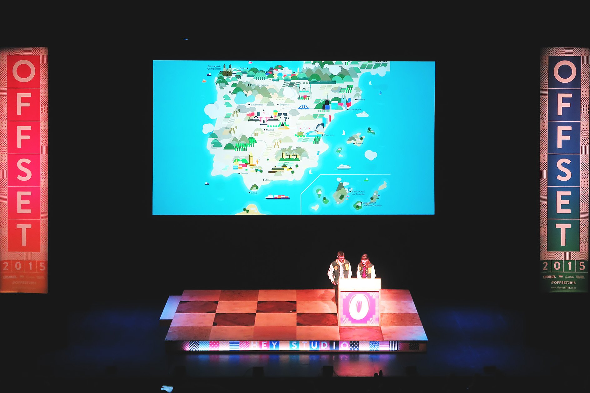 Hey Studio at OFFSET 2015 –  Spain vector map