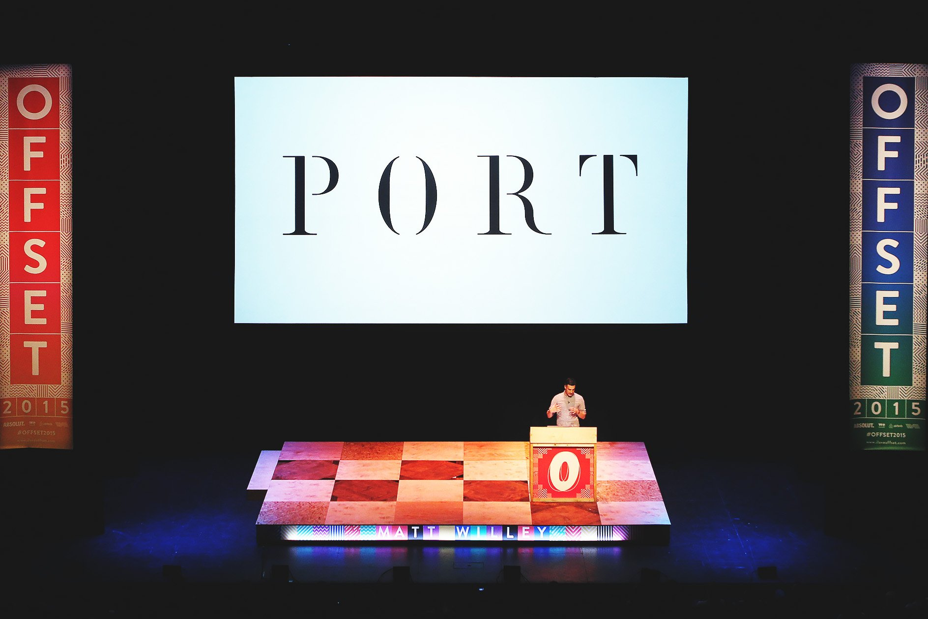 Matt Willey at OFFSET 2015 – Port Logo