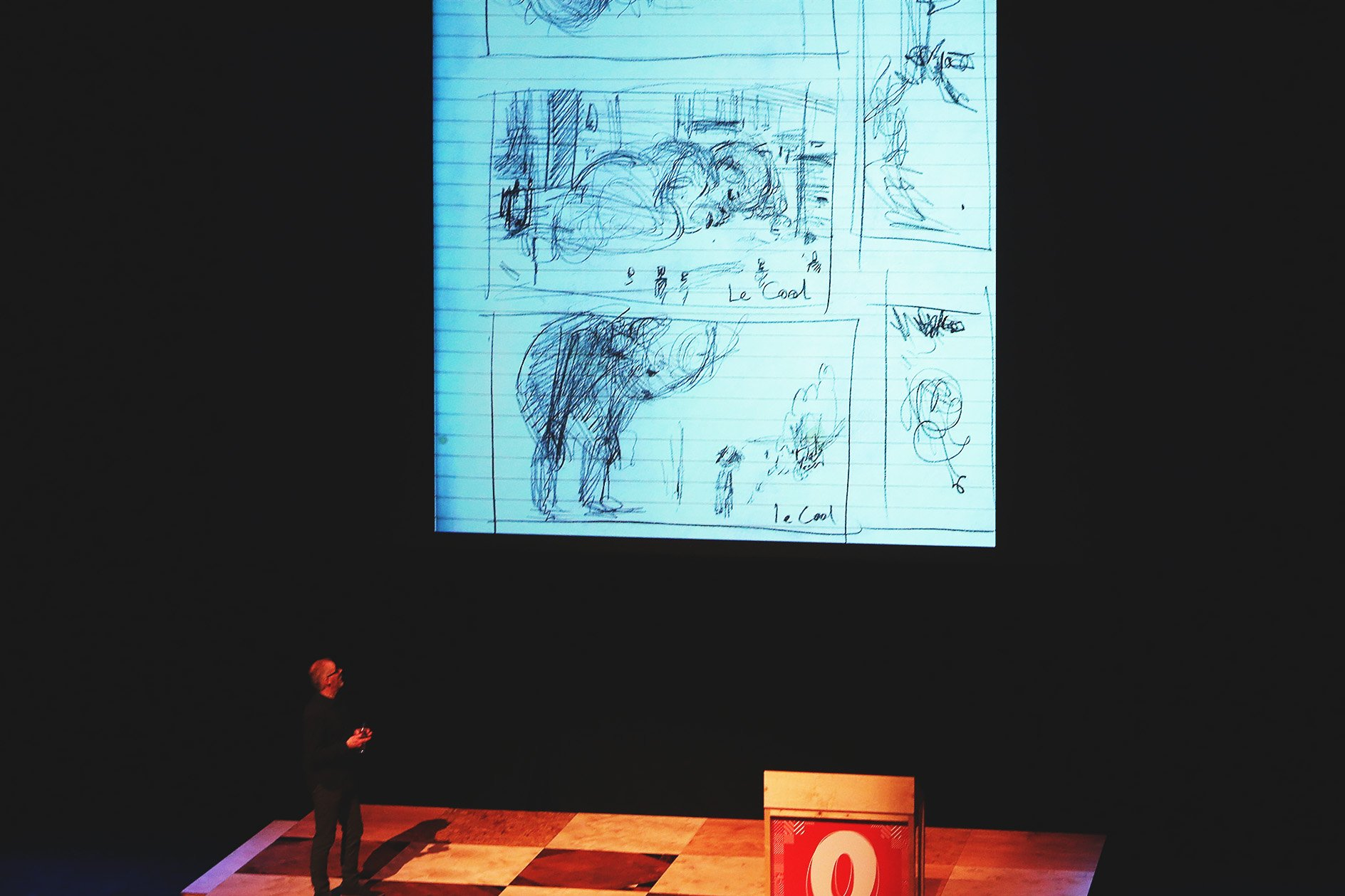 Steve Doogan at OFFSET 2015 – Initial sketches