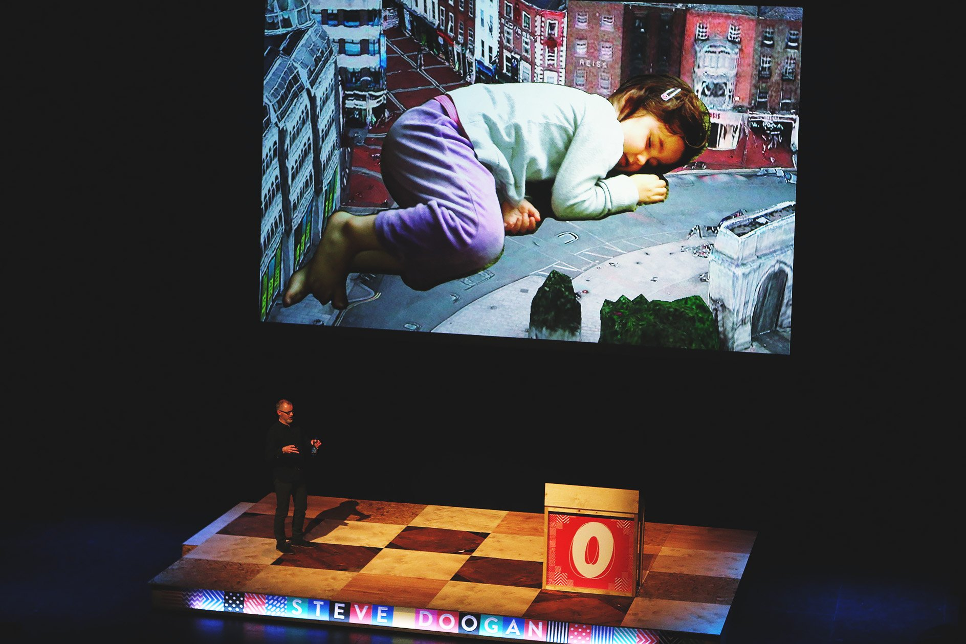 Steve Doogan at OFFSET 2015 – Composite photo and illustration