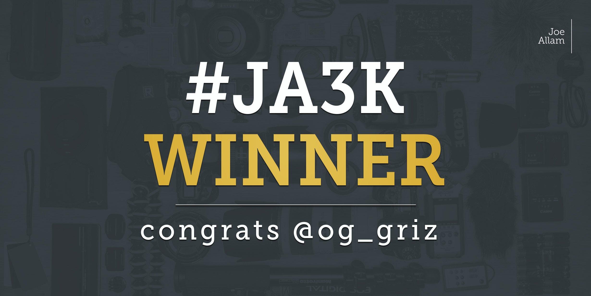 #JA3K Winner. Congrates @og_griz