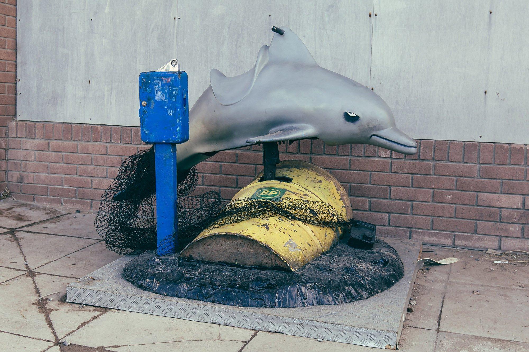 Banksy's Dismaland dolphin-ride