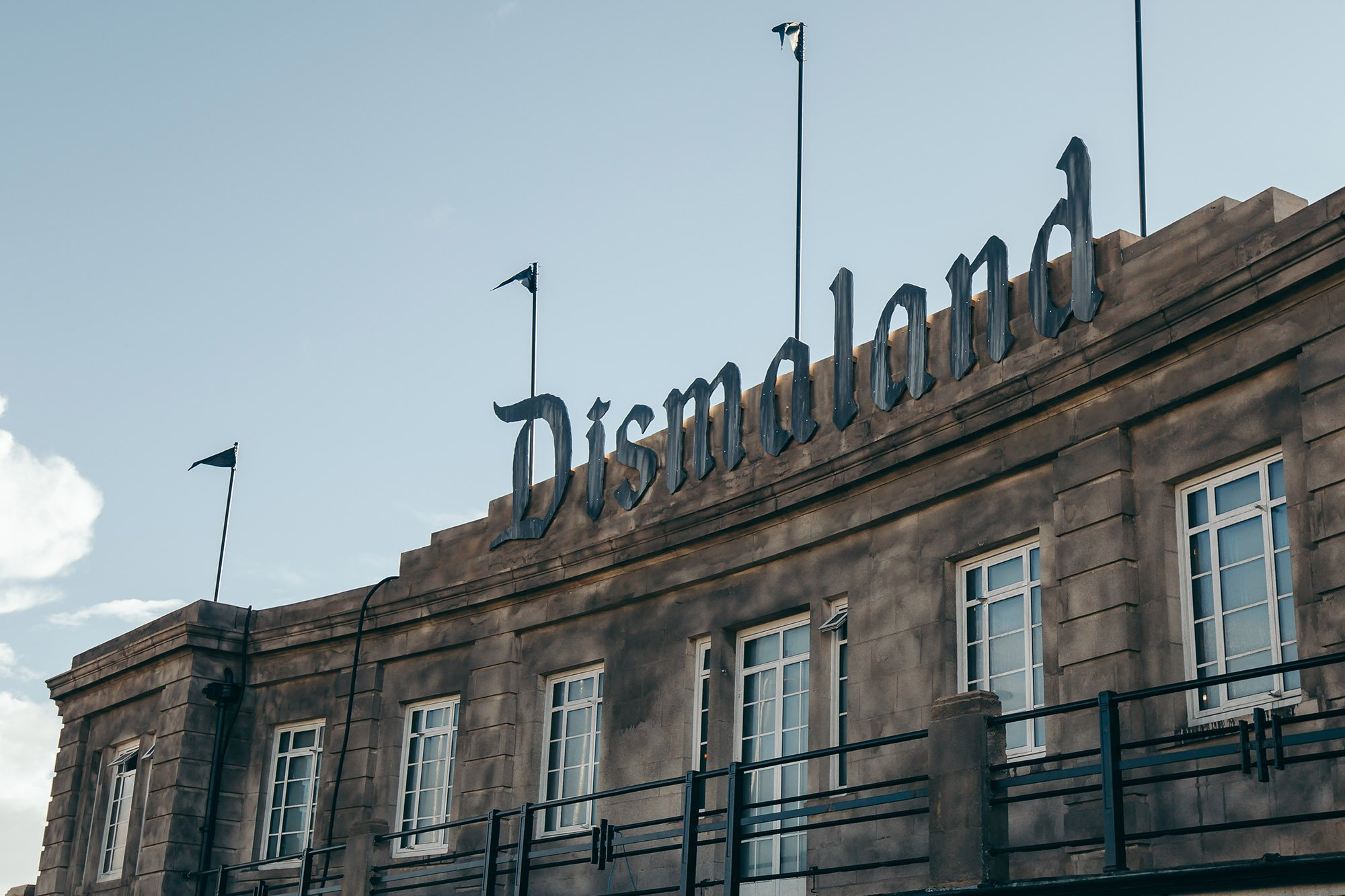 Banksy's Dismaland sign