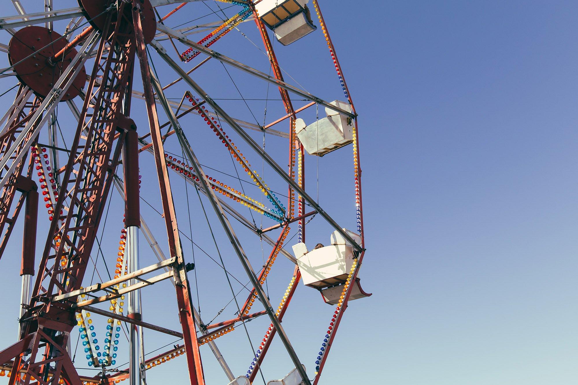 Banksy's Dismaland ferris wheel