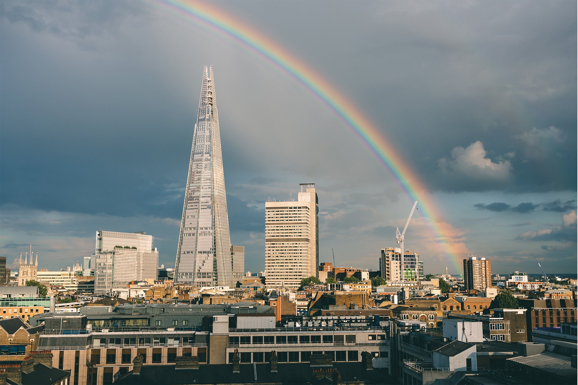 Testing the Sony A7R II – A rainbow view of The Shard in London