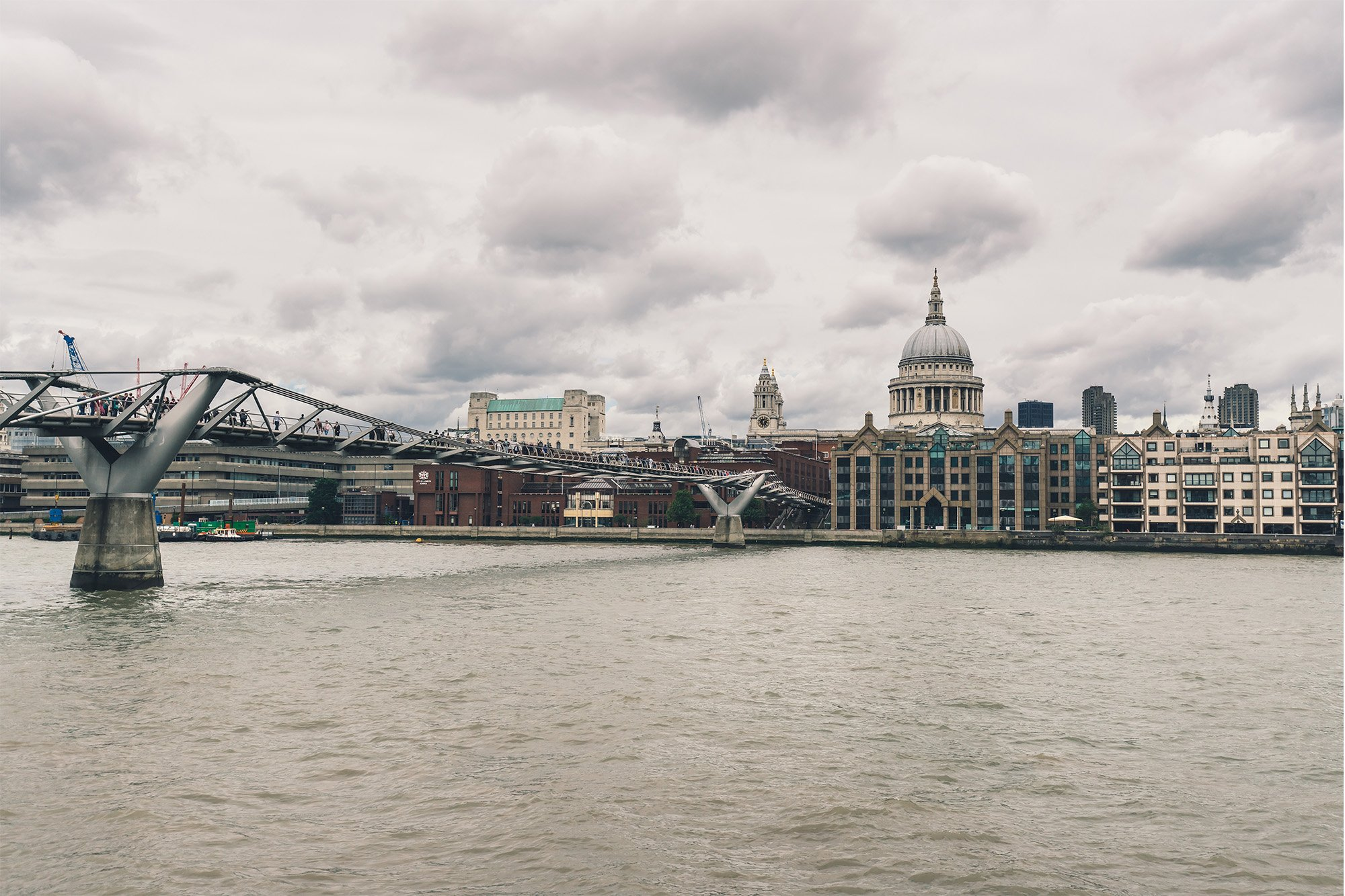 Testing the Sony A7R II – A riverside view of The Millennium Bridge and St. Paul's Cathedral
