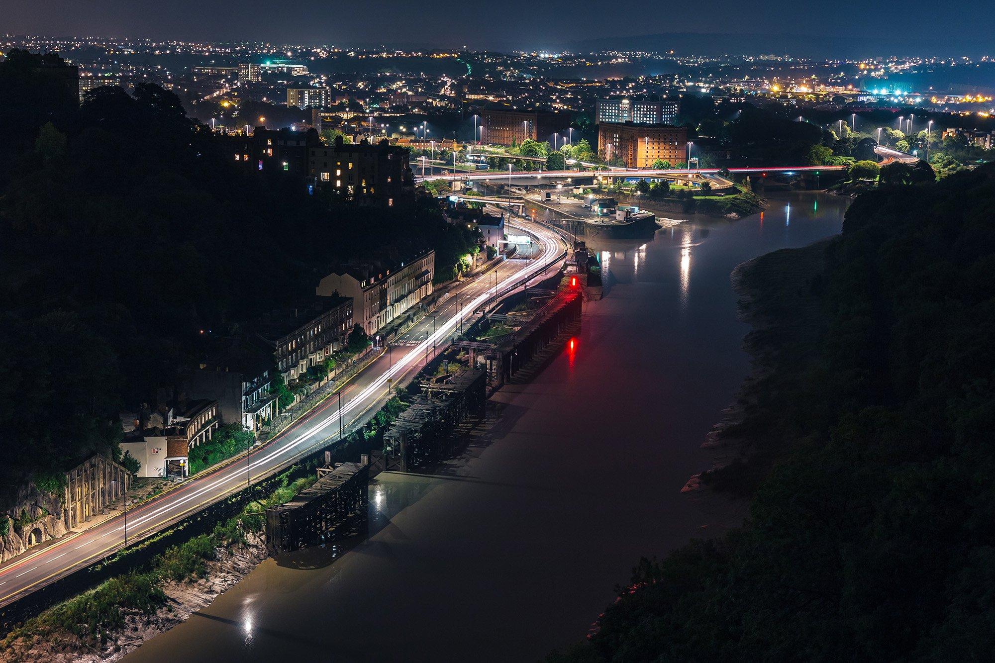 Long Exposure Night Photography Bristol Clifton View