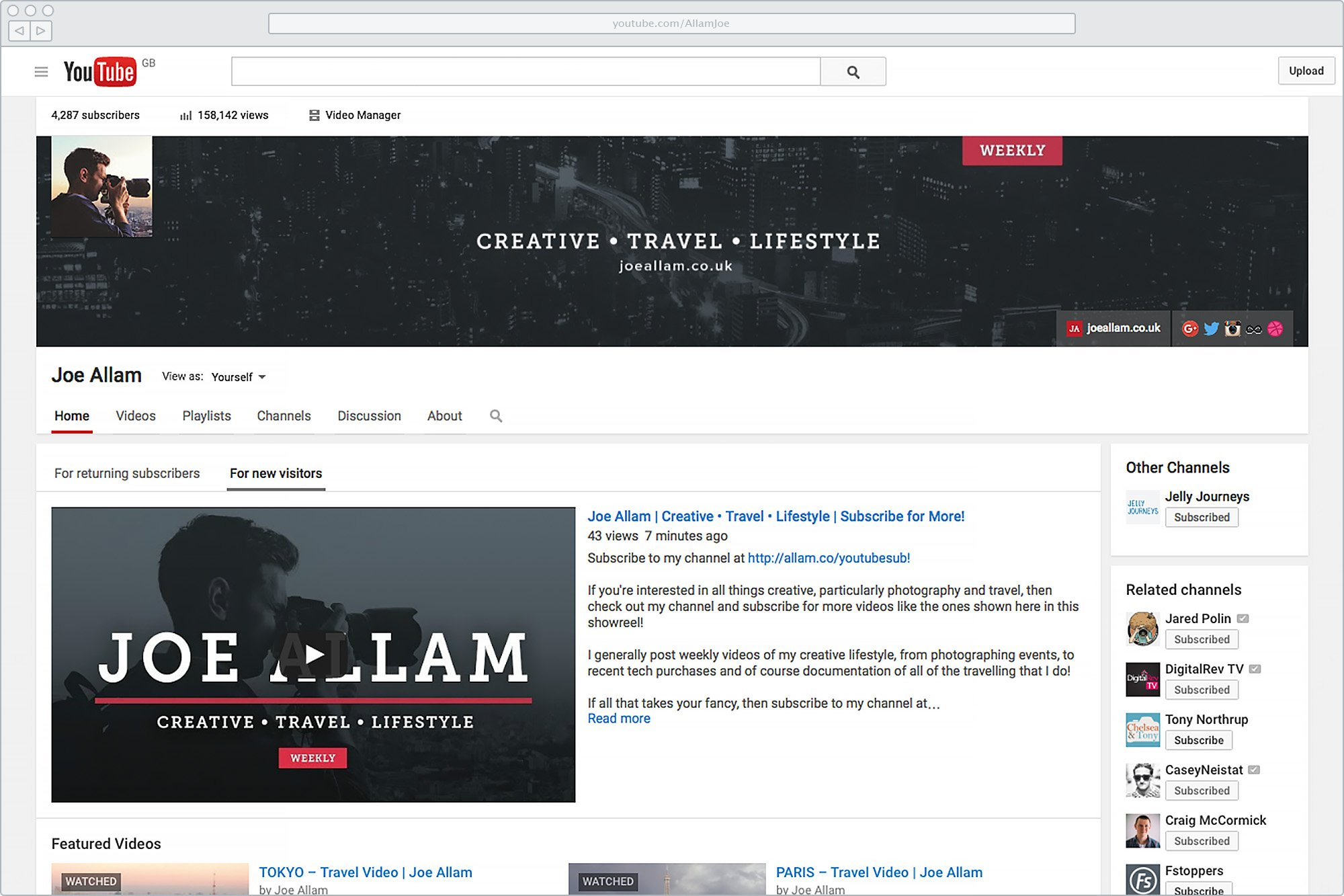 New YouTube Branding with Trailer