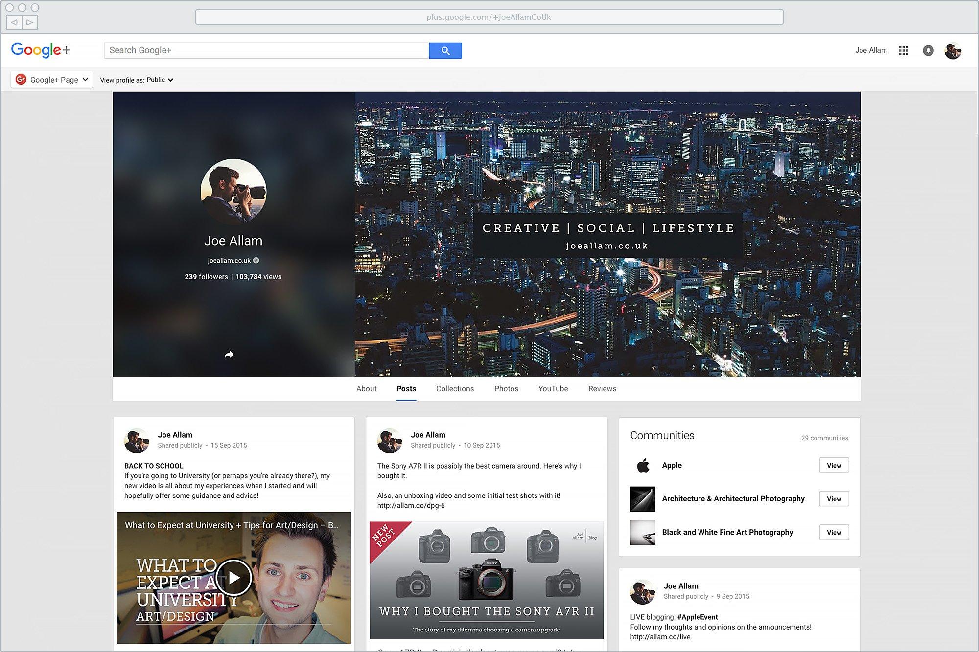 Old Google+ Branding
