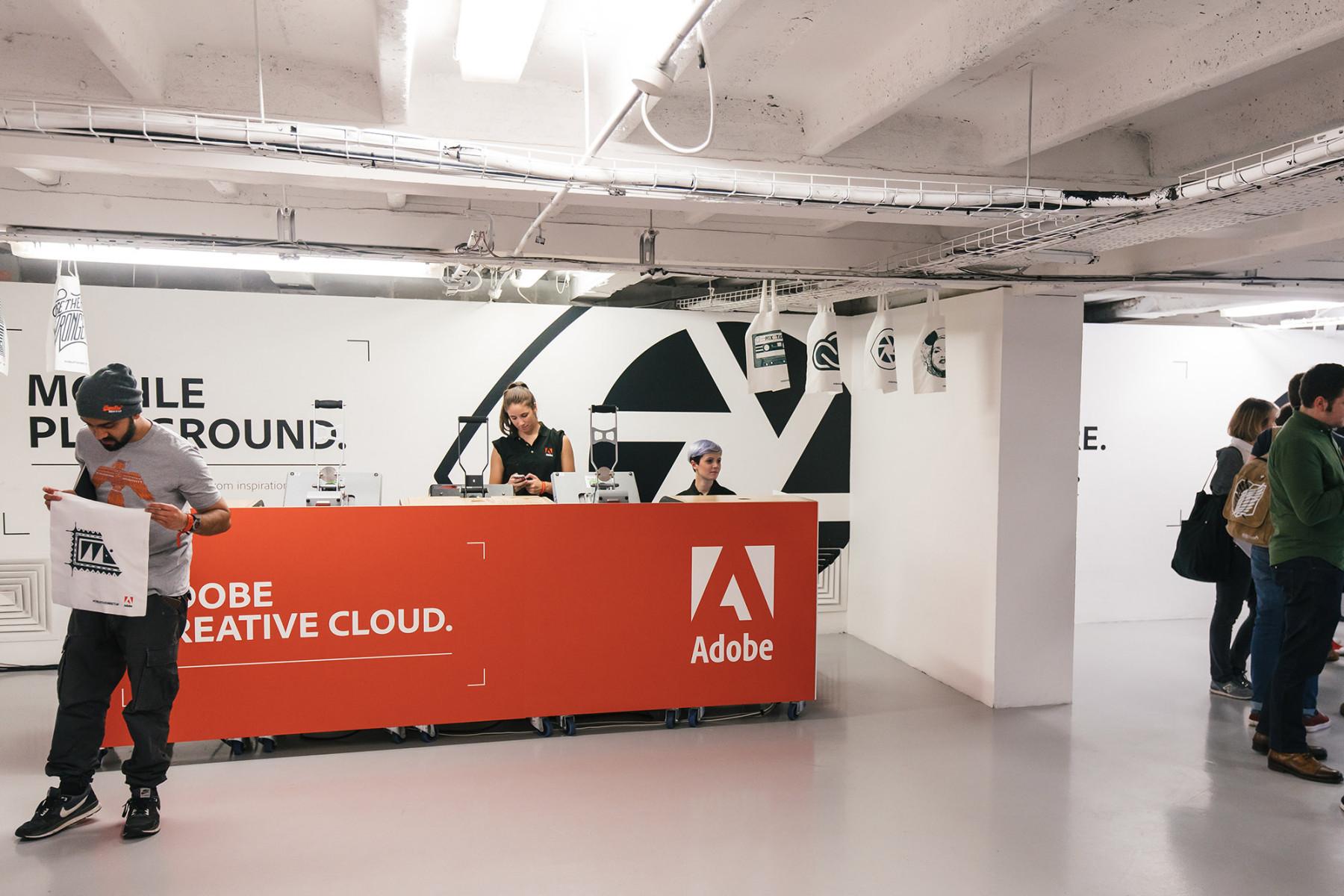 Adobe Creative Cloud Event Printing Desk