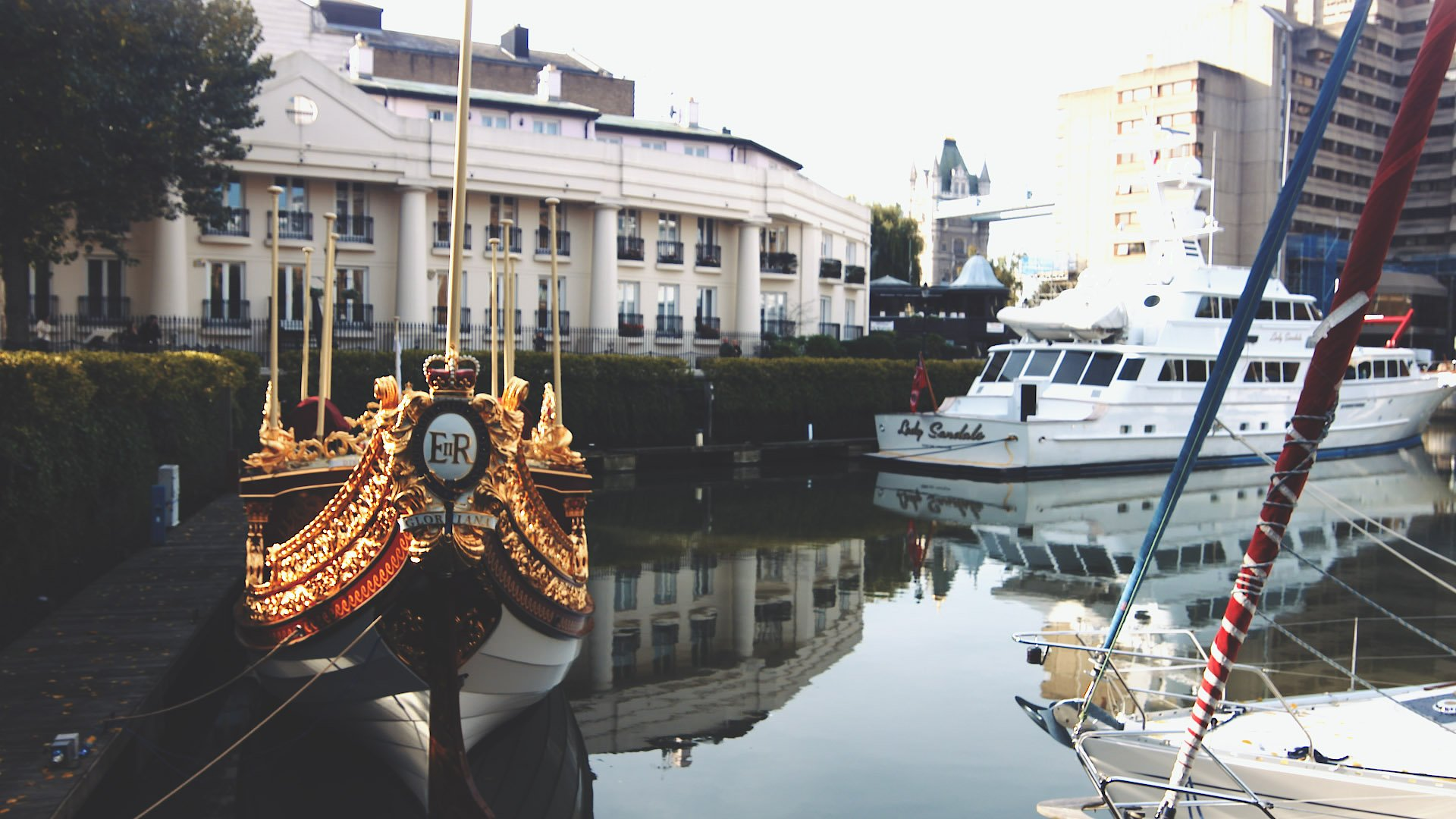Royal Boat in St. Katherine Docks, London