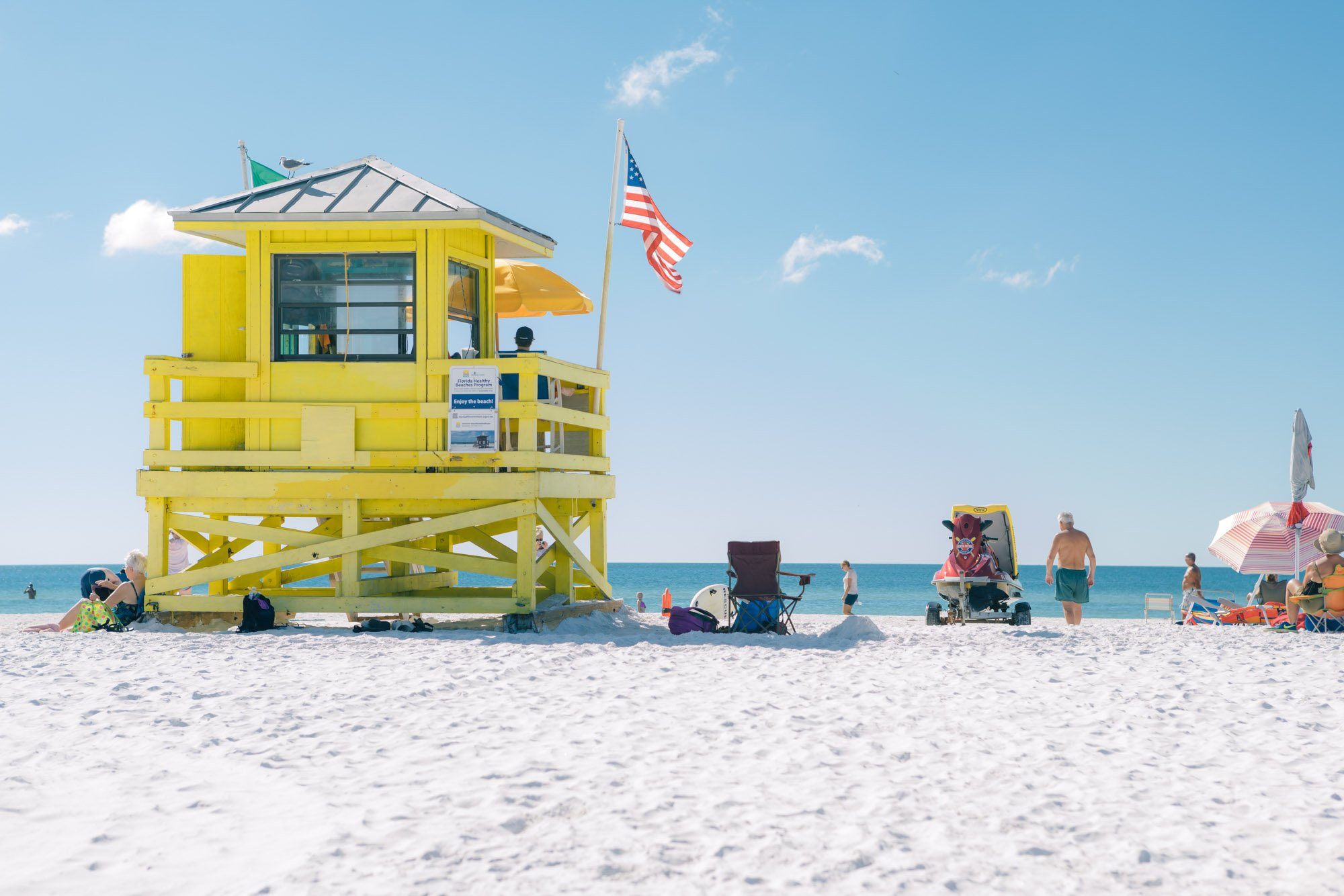Siesta Key Beach Lifeguard Hut