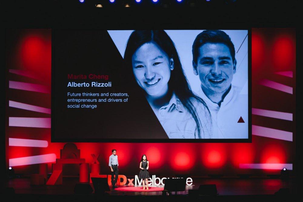 TEDxMelbourne Marita Cheng and Alberto Rizzoli