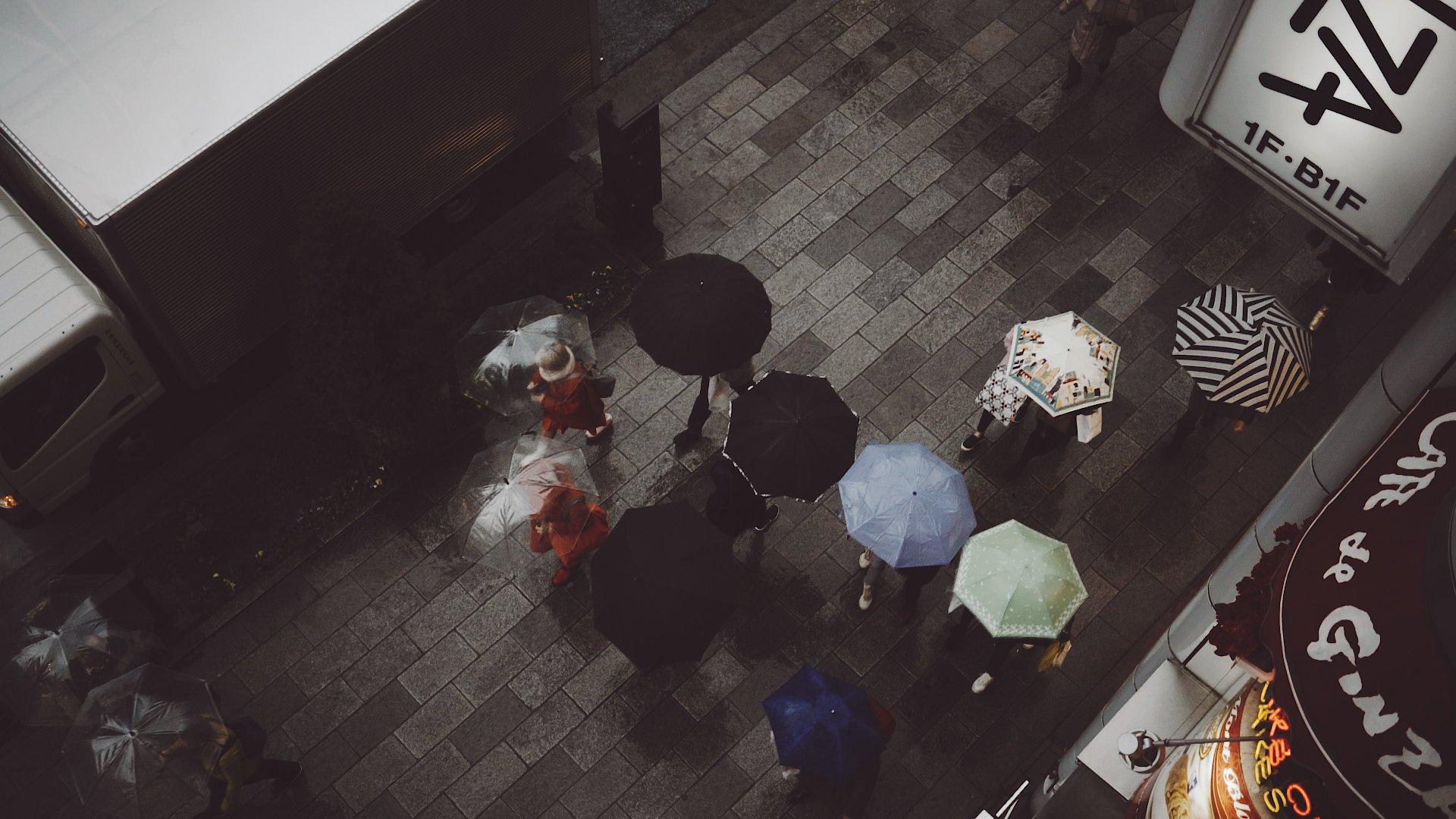 Tokyo Rain Cine Scenes S-Log2 Graded