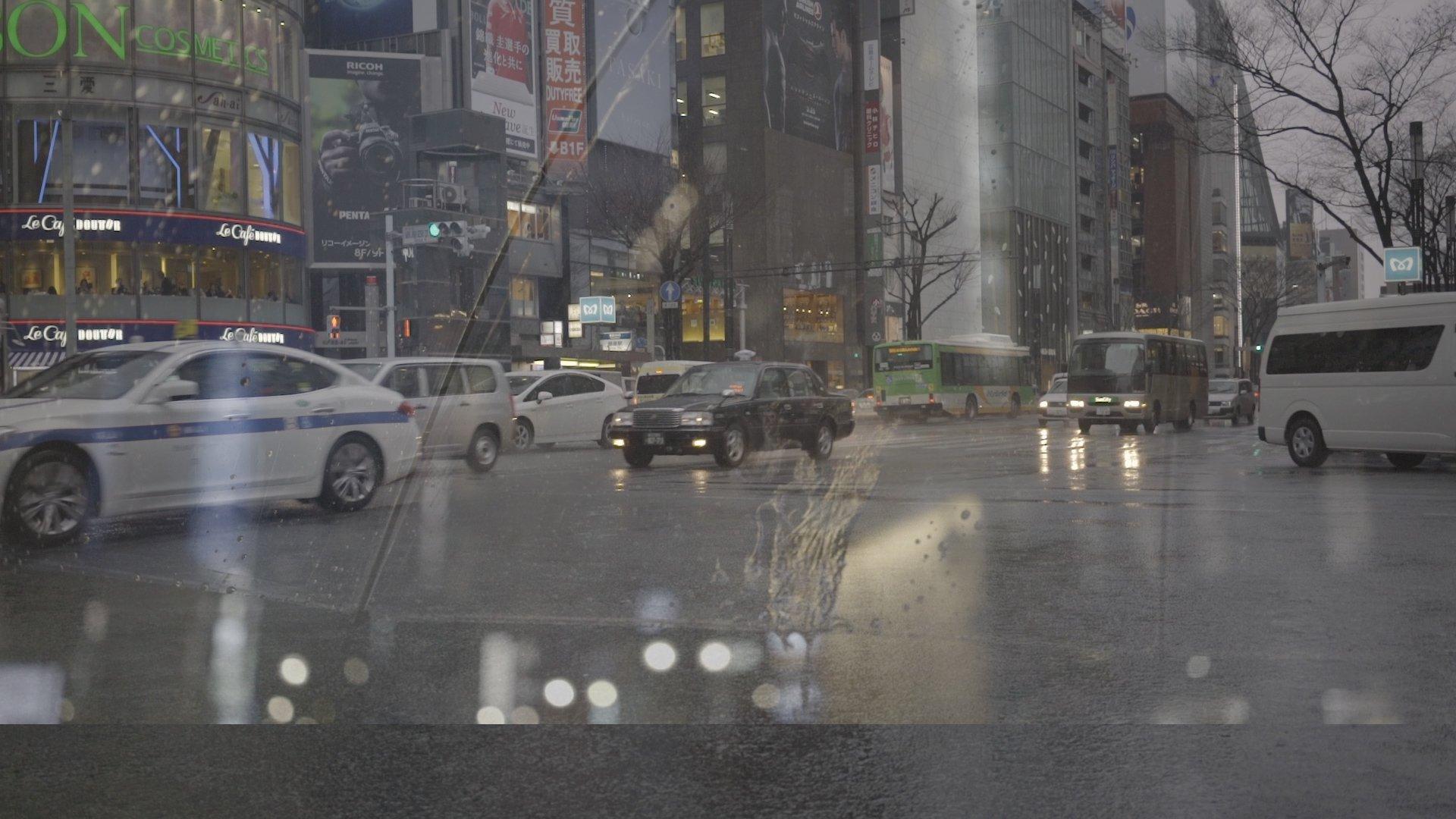 Tokyo Rain Cine Scenes Ungraded S-Log 2 Shot