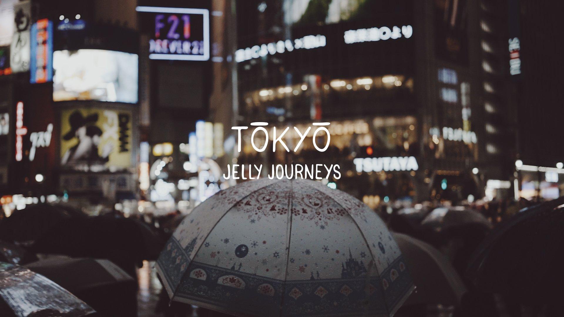 Tokyo Rain Cine Scenes Title Umbrella