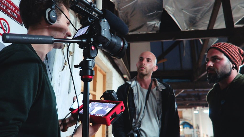 Interview Filming Behind the Scenes — Manfrotto BeFree Live at Blender Lane Artist Market