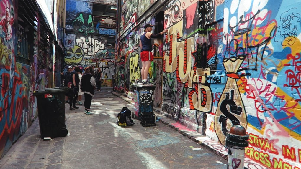Street Art in Hosier Lane — Manfrotto BeFree Live at Blender Lane Artist Market