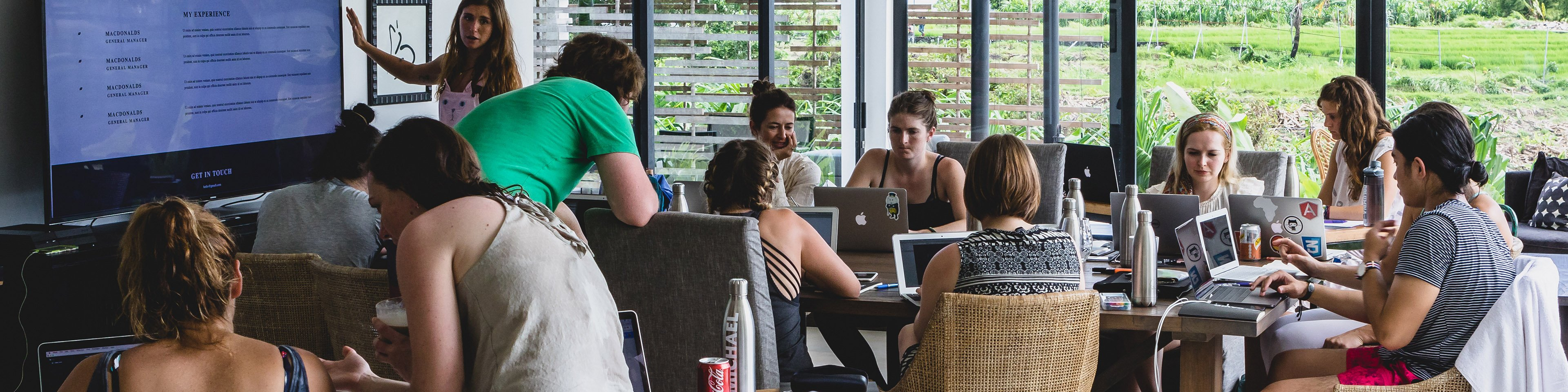 Learn HTML, CSS and how to code at the Institute of Code, Bali Indonesia